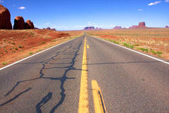 The Desert Road in Monument Valley ,Utah Stock Images