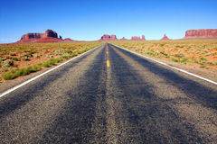 The Desert Road in Monument Valley ,Utah Stock Photography