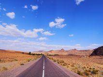 Desert Road in Morocco Stock Photo
