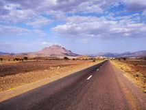 Desert Road in Morocco Royalty Free Stock Image