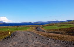Desert road N1 in Iceland Royalty Free Stock Photos