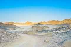 The desert road Stock Photo