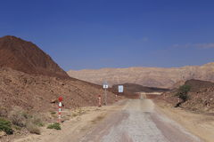 Desert road. Road in the desert Negev, Israel Royalty Free Stock Photos