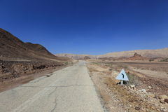 Desert road. Road in the desert Negev, Israel Stock Photo