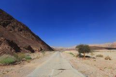 Desert road. Road in the Negev desert, Israel Royalty Free Stock Photo