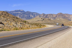 Desert road, Nevada, USA Royalty Free Stock Photos