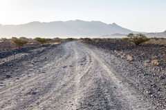 Desert road in Oman Royalty Free Stock Photography