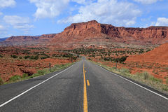Desert road through rural Utah Stock Image