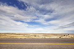 Desert road, travel concept background, USA stock image