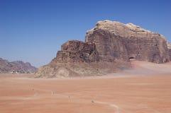 Desert - road trip on desert Stock Photos
