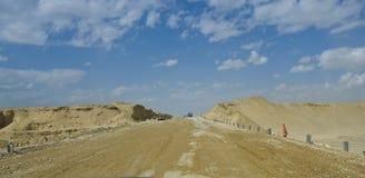 Desert road under construction. Stock Photo
