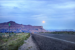 Desert road in USA, Utah Royalty Free Stock Photography