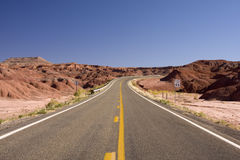 Desert Road in Utah Royalty Free Stock Photography