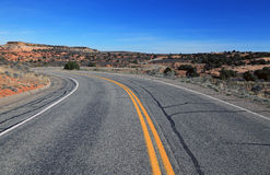 Desert road. Royalty Free Stock Photos