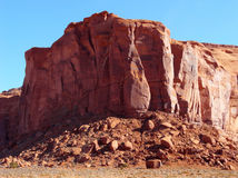 Desert Rock. Ancient red rock formation at Monument Valley in the desert Southwest royalty free stock photo