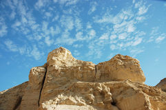 Desert rock cliff . Royalty Free Stock Photo