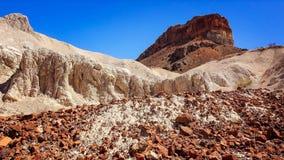 Desert Rock Formation in Big Bend National Park. Interesting rock formation in Big Bend National Park Stock Image