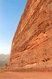 Desert rock formation - Wadi Rum, Jordan Royalty Free Stock Photos