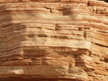Desert rock layer texture Royalty Free Stock Image