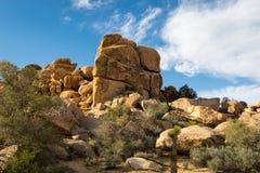 Desert Rocks Under Blue Sky Stock Images