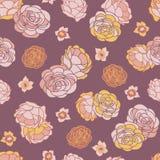 Desert Rose Garden Seamless Vector Repeat Pattern vector illustration