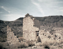 Desert Ruins. Remains of a building in the desert royalty free stock photo