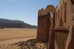 Desert Ruins. Of a castle in Jordan Royalty Free Stock Photos