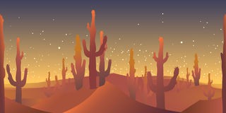 Desert rusk seamless pattern Stock Photo