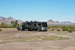 Desert RV Camping Stock Photos
