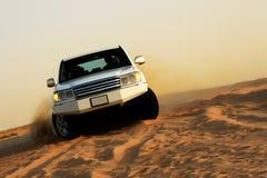 Desert safari. Adventurous fun drive in the desert stock image
