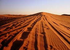Desert Safari. Dune bashing near Dubai, at Sunset royalty free stock photography