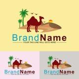 Desert safari beautiful logo design stock illustration