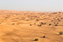 Desert Safari in Dubai. An adventurous desert drive experience in Dubai Royalty Free Stock Image