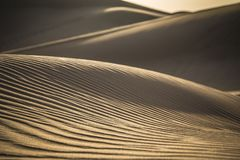 Desert Safari Dubai. Landscapes and shapes of the dunes royalty free stock photography