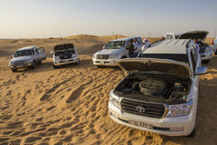 Desert safari in Dubai. Royalty Free Stock Photo