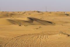 Desert safari in Dubai, UAE. DUBAI, UAE - October 30 - Desert safari, also called dune bashing, in DUBAI, UAE on October 30, 2013. Desert safari is a popular Royalty Free Stock Photos
