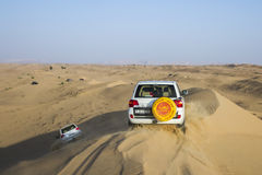 Desert safari in Dubai, UAE. Royalty Free Stock Photo