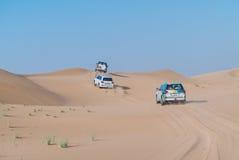 Desert Safari. Dune bashing in dubai desert july 2017 Royalty Free Stock Photos