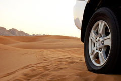 Desert Safari and Sand Dunes landscape Royalty Free Stock Image
