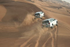 Desert Safari. United Arab Emirates Dubai, desert safari by jeep stock photos