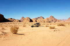 Desert safari in Wadi Rum, Jordan. Stock Photography