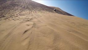 Desert safari with 4wd stock footage