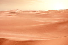 Desert Sahara dunes on sunset, Egypt Stock Photo