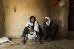 DESERT SAHARA, MOROCCO - APRIL 17: Unidentified persons, portrai Royalty Free Stock Image