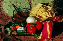 Desert Salsa & Chips Stock Photo