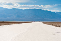 The desert of salt of death valley Royalty Free Stock Photo