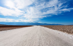 The desert of salt of death valley Royalty Free Stock Image