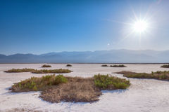 Desert. The salt flats of Death Valley National Park at Badwater Basin Royalty Free Stock Images