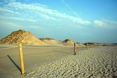 Desert near Baltic Sea stock photo