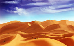 Desert sand, digital drawing stock images